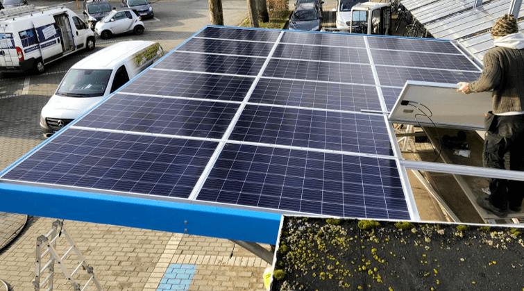 Wiaty rowerowe solary na dachu