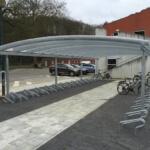 qiaty rowerowe dach okrągłu z poliwęglanu
